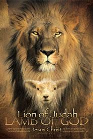 christian religious bible jesus posters lion lamb