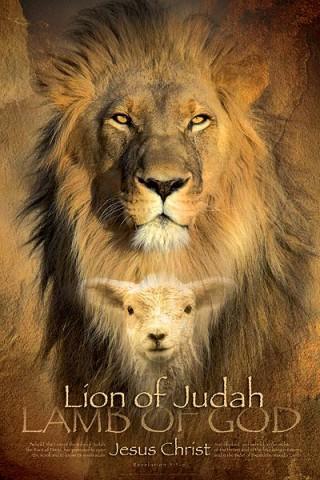 Christian wall art: Lion of Judah, Lamb of God