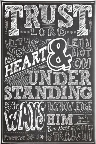 Christian posters for youth - Trust in the Lord with all your heart - Religious Posters