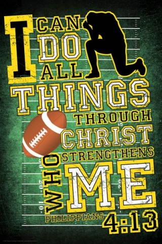 Christian Posters For Youth - Inspirational Religious Wall Art Prints: I can do all things