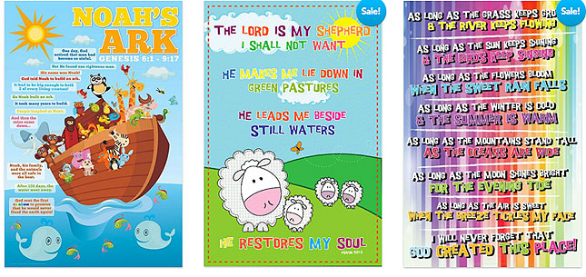 Christian posters for kids - overview one