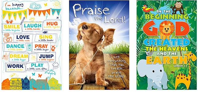 Christian posters for kids - two