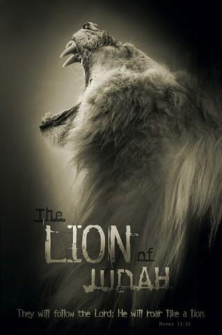christian posters lion judah