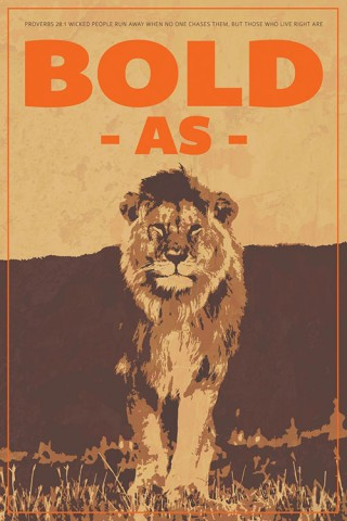 christian posters bold lion