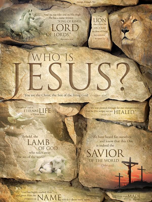 WHO IS JESUS? Jesus poster